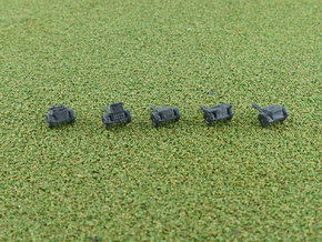 German sd.Ah. 32 & 33 Ammo Trailer 1/285 6mm in Smooth Fine Detail Plastic