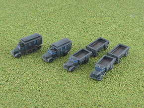 Opel Blitz Variants 2 1/285 6mm in Smooth Fine Detail Plastic