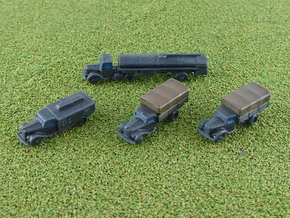 German Ford V3000S Trucks 1/285 6mm in Smooth Fine Detail Plastic