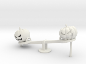 O Scale Seesaw Pumpkins in White Natural Versatile Plastic