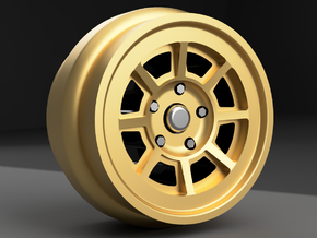 1/64 scale Group 4 Campagnolo wheels 8mm OD - 4 se in Smoothest Fine Detail Plastic