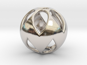 Flower Sphere Pendant in Platinum