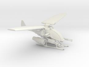 Condor_Gunship_V2 in White Natural Versatile Plastic