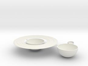 Saturn Map Globe in White Natural Versatile Plastic