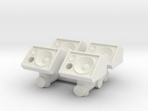 Stage Monitor Speaker (x4) 1/64 in White Natural Versatile Plastic