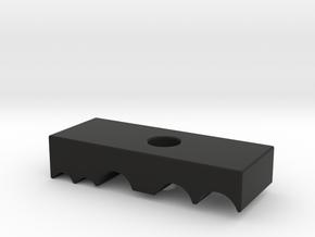 Rail ClampTop in Black Natural Versatile Plastic