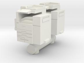 Office Printer (x2) 1/56 in White Natural Versatile Plastic