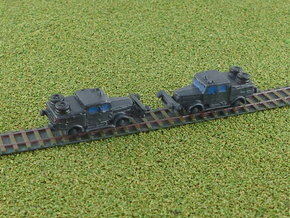 German Faun ZRS Tractor 1/285 6mm in Smooth Fine Detail Plastic