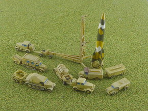 V2 Rocket Batterie 1/285 6mm in Smooth Fine Detail Plastic