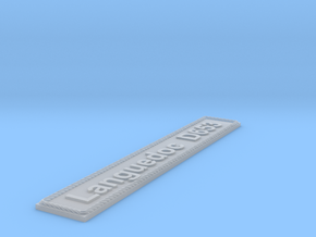 Nameplate Languedoc D653 in Smoothest Fine Detail Plastic