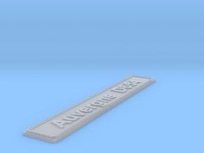 Nameplate Auvergne D654 in Smoothest Fine Detail Plastic