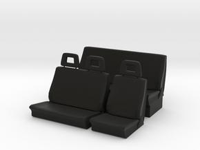 Sitze komplett in Black Natural Versatile Plastic