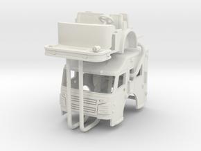 Rosenbauer 1/64 Raised Roof Cab in White Natural Versatile Plastic