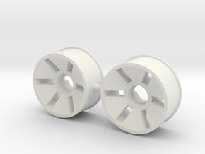 Front Rim x2 Diameter 19.5mm Offset -0.5 in White Natural Versatile Plastic