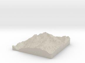 Model of Freiwandspitze in Natural Sandstone