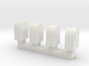 Wooden Railway Lamps in White Natural Versatile Plastic