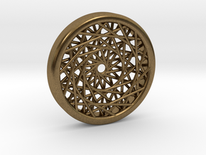 Triple Layered Spirograph Pendant in Natural Bronze