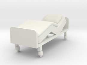 Hospital Bed 1/48 in White Natural Versatile Plastic