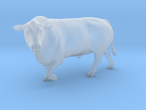 1/64 Polled Bull Walking Left Turn in Smooth Fine Detail Plastic