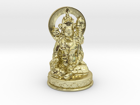 Padmasambhava (Guru Rinpoche)  in 18k Gold Plated Brass
