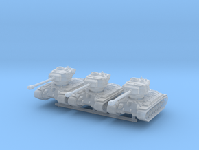 T-26E5 Pershing (no skirts) (x3) 1/285 in Smooth Fine Detail Plastic