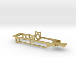 """HO modified """"Brookline"""" 4-2-2 Chassis  in Natural Brass"""