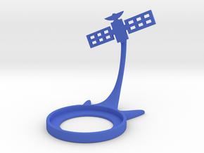 Space Satellite in Blue Processed Versatile Plastic
