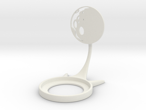 Space Moon in White Natural Versatile Plastic