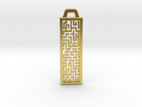 Labyrinth Pendant in Polished Brass