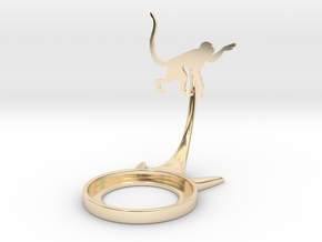 Animal Monkey in 14k Gold Plated Brass