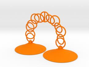 Pasties 2p6dia_0p5h chains in Orange Processed Versatile Plastic