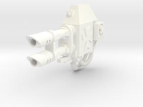 Maltese Cross Ares left lascannon #1 in White Processed Versatile Plastic