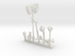 Tech Knight: Right Hand Weapon Pack 3 in White Natural Versatile Plastic