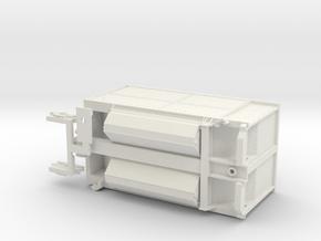 Burlington Northern Trough Train A-Unit in White Natural Versatile Plastic