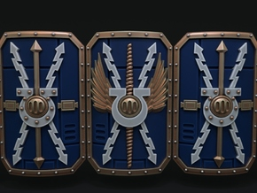 5-10x Ultra Chapter Shields in Smooth Fine Detail Plastic: Small