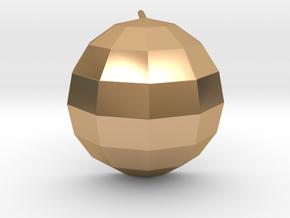 disco ball single post earring polished in Polished Bronze