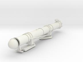 1/24 USN PT Boat 109 Torpedo Tube KIT Port in White Natural Versatile Plastic