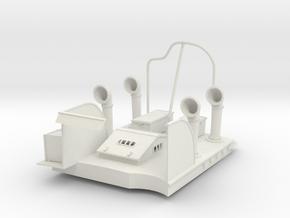 1/24 USN PT Boat 109 Engine Room in White Natural Versatile Plastic