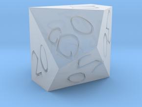 D% Horizontal Sharp Edge - Fantasy Elf Font in Smoothest Fine Detail Plastic