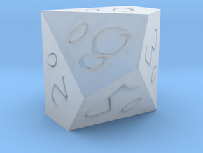 D% Vertical Sharp Edge - Fantasy Elf Font in Smoothest Fine Detail Plastic