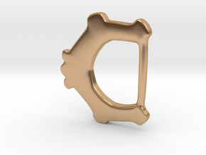 Ring-and-dot Buckle from East Winch in Polished Bronze