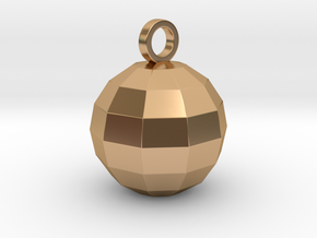 disco ball pendant polished in Polished Bronze