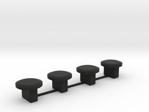 Wheel Covers - Transformers Earthrise Smokescreen in Black Natural Versatile Plastic