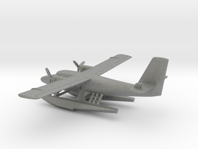 de Havilland Canada DHC-6 Seaplane in Gray PA12: 1:200