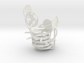 Space Set in White Natural Versatile Plastic
