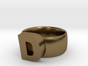 D Ring in Polished Bronze