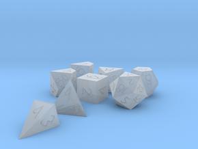 Polyset Horizontal + D4D - Fantasy Elf Font in Smoothest Fine Detail Plastic