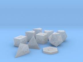 Polyset Vertical D2 D4C D4D - Fantasy Elf Font in Smoothest Fine Detail Plastic
