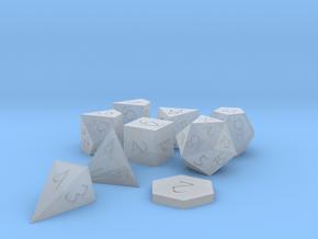 Polyset Vertical + D2 + D4D - Fantasy Elf Font in Smoothest Fine Detail Plastic