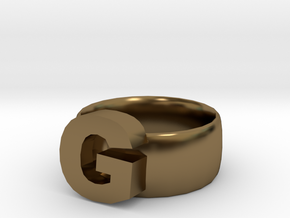G Ring in Polished Bronze